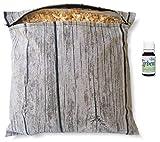 Geschenkset Zirbenkissen (30x30cm weiß oder wooddesign) mit Reißverschluss inkl. 10ml...