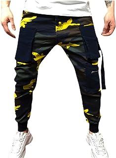 Xmiral Pantalone Lungo Ginnastica Uomo Lunghi di Nuova Moda Casual Tasca Esterna Spiaggia Pantaloni mimetici