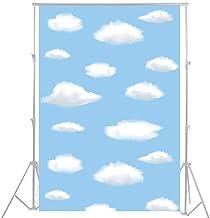 100x150cm cielo Azul blanco nubes fotografía telón de fondo fondo decoración para fiestas cumpleaños mesa mascota bebé recién nacido Photo Props D-3284