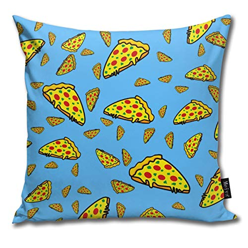 EU Pizza Italiana, Tomates Moda Estilo Pizza Fundas de cojín Fundas de cojín Cuadrados Decorativos para Sala de Estar, sofá, Cama de 18 x 18 Pulgadas