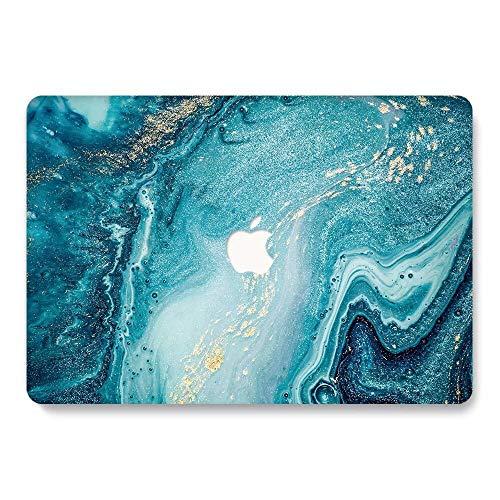 AQYLQ Funda Dura para 2018/2017/2016 MacBook Pro 13 Pulgadas con/sin Touch Bar A1706/A1708/A1989, Ultra Delgado Carcasa Rígida Protector de Plástico Cubierta, Azul 19