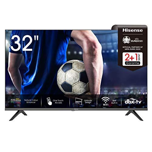 Hisense 32AE5500F 80 cm (32 Zoll) Fernseher (HD, Triple Tuner DVB-C/S/S2/T/T2, Smart-TV, Frameless, Prime Video, Netflix, YouTube, DAZN, 3 Jahre Garantie)
