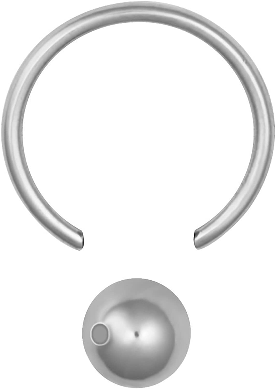 Forbidden Body Jewelry Small Cartilage Hoop Earring: Surgical Steel 5/16 Inch CBR Captive Bead Hoop Ring with 4mm Ball