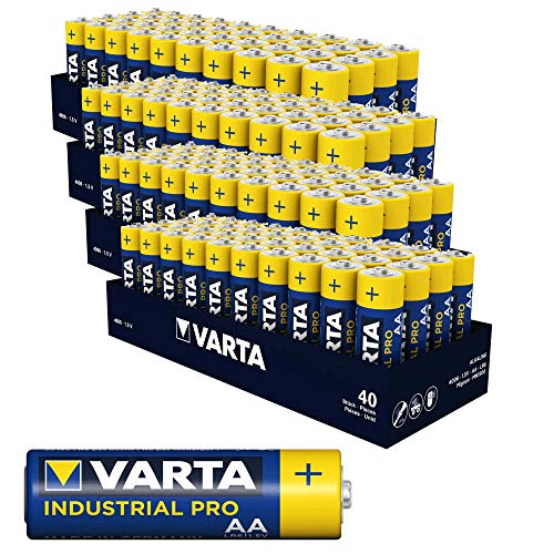 160 x Varta Batterien Alkaline, Mignon, AA, LR06, 1.5V Industrial, Shrinkwrap