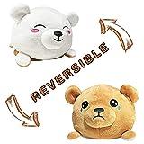 Beautifully Sewed Reversible Emotion Plushie Bear Toys Stuffed Animal Reversible Mood Plush Double-Sided Flip | Show Your Mood | Sad / Happy