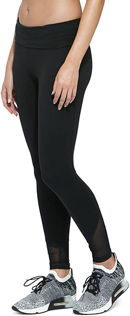 Soffe Women's Juniors Mesh Legging, Black, Medium