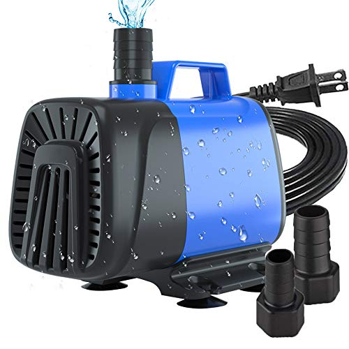 ZMLM 550 GPH Submersible Water Pump (2000L/H, 40W), Anti-Dry Protection Aquarium Fountain Amphibious Pump with 6.56ft High Lift for Fish Tank, Pond, Aquarium, Statuary, Hydroponics Water Pump