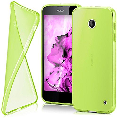 MoEx® AERO Case Transparente Handyhülle passend für Nokia Lumia 630 | Hülle Silikon Dünn - Handy Schutzhülle, Durchsichtig Grün