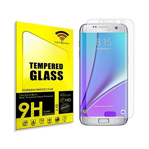 actecom® Protector Pantalla Compatible con Samsung Galaxy S7 Edge NO Cubre LOS...