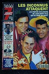 Télé 7 Jours 1692 31oct. au 6 nov. 1992 Les Inconnus cover + 4 p. - Muriel Robin Guy Bedos