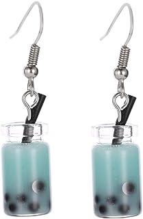 H2okp-009 Fashion Women Bubble Tea Drink Dangle Long Ear Hooks Earrings Jewelry Decor Handmade Minimalist Halloween Thanks...