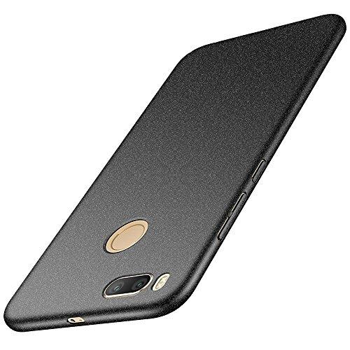 anccer Xiaomi Mi A1 Hülle, [Serie Matte] Elastische Schockabsorption & Ultra Thin Design für Xiaomi Mi A1 (Kies Schwarz)