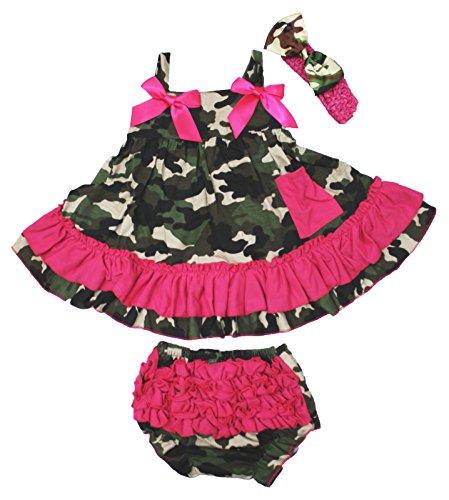 Petitebelle Rose vif Camouflage Couvercle basculant bloomer Ensemble Bébé Fille Vêtements Nb-24 m - Vert - 0-12 mois