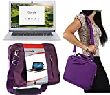 Navitech Lila Prime Hülle/Cover Trage Tasche für das Acer TravelMate B (TMB115-MP-C23C)
