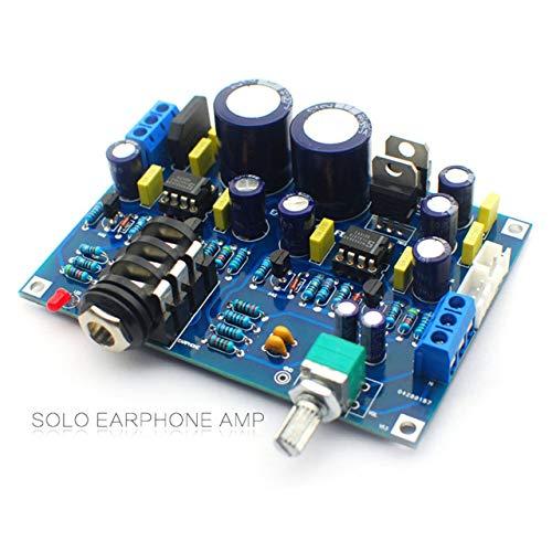 Placa de Amplificador de Auriculares HiFi Auricular Solo Amplificador de Auriculares Dual NE5534 Versión de actualización Solo en inglés Kit de Bricolaje Producto Terminado (Azul) ESjasnyfall