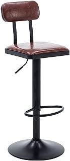 NMDB DLDL Vintage Fer forge Bar telesiege Chaise pivotante Chaise Bureau  Couleur Brown
