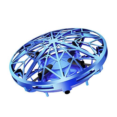 knowledgi UFO - Drone con control de mano para niños, dron UFO para adultos, juguete volador para niños, azul