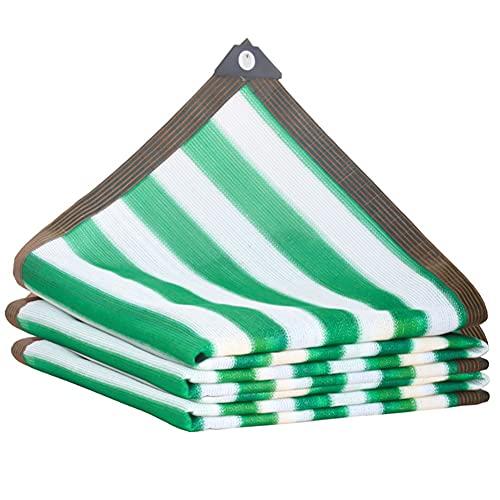 KUAIE Toldo Toldo Tela para Sombra Aislamiento Y Enfriamiento para Flores, Patios, Balcones, Techos Tela Toldo Rayas Verde Hierba Varios Tamaños (Color : Green, Size : 6×6m)