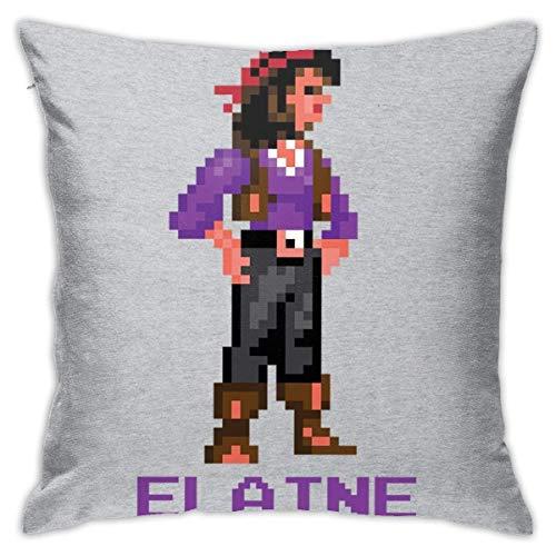 TOUFENG Elaine Marley Pixel Charakter Monkey Island Pilloase, doppelseitiger Druck, versteckte Zillo Pilloase, schöne gedruckte Muster Pilloase 18inch18inch