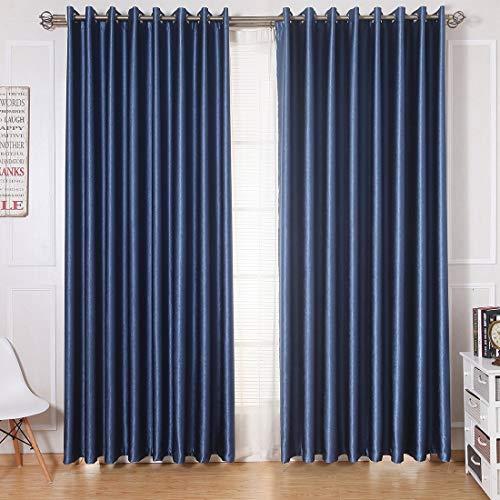 Eastery Top Blickdicht Thermogardinen Vorhang Ösenschal Gardine Mit Ösen Für Wohnzimmer Einfacher Stil Schlafzimmer 1Er Pack 160X100Cm(Hxb) Beige (Color : Blau, Size : 225X140(Hxb).Pcsx1)