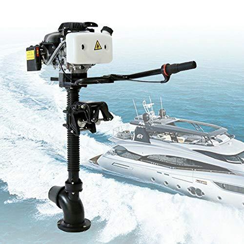 Kaibrite Motor fueraborda 4CV 4 tiempos 2,9kW 55cc,motor de pescado de alto rendimiento,motor y bomba de chorro,sistema de refrigeración de viento 4500–5500U/mi,motor de fuera de borda,motor de pesca