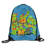 Teenvge Mutvnt Nmnjv Turtles Cinch Taschen Drawstring Backpack Canvas Sporttasche Handtasche