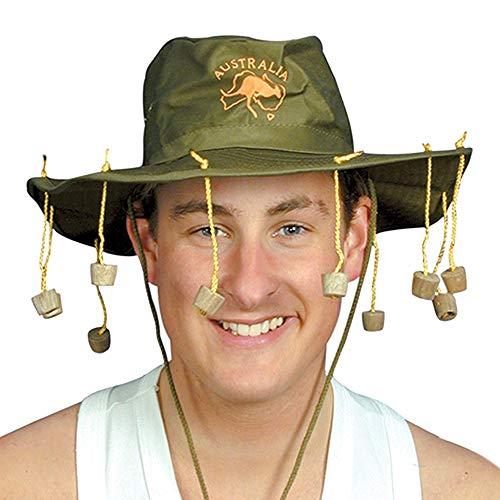 German Trendseller® Australischer - Hut - Dschungel - Camper - Deluxe ┃ inkl. Korken ┃ Busch Hut ┃ Camp ┃ Korkenzieher Hut