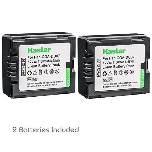 Kastar Battery (2-Pack) for Panasonic CGA-DU06, CGA-DU07, VW-VBD070 VBD140 VBD210 and PV-GS31, PV-GS33,PV-GS34, PV-GS35, PV-GS39, PV-GS400, PV-GS500, PV-GS50, PV-GS50S, PV-GS55