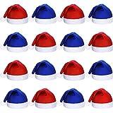 SATINIOR 16 Pezzi Natale Tessuto Non Tessuto Babbo Natale Cappello Babbo Natale Santa Cappelli per Adulti (Blu e Rosso)
