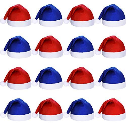 SATINIOR 16 Piezas de Tela no Tejida de Navidad Sombrero de Santa Claus Sombreros de Navidad Santa...