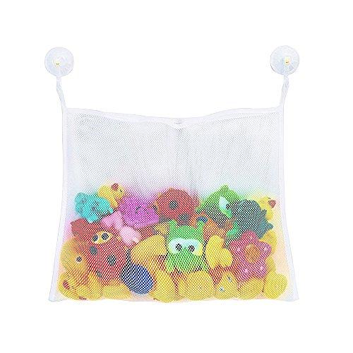Sac de rangement multifonction pour jouets – Fixation via deux ventouses de haute qualité supportant chacune 3 kg – Pour salle de bain