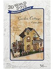 CubicFun Cubic Fun 3D puzzel model 36 delen France Flavor Garden Cottage by