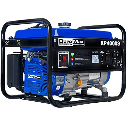 DuroMax New_XP4000S Portable Generator-4000 Watt Gas Powered Electric Start-Camping & RV Ready, 50...