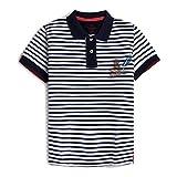 Hackett London Harry Stripe Polo B Camisa, 5djnavy/White, K03 para Niños