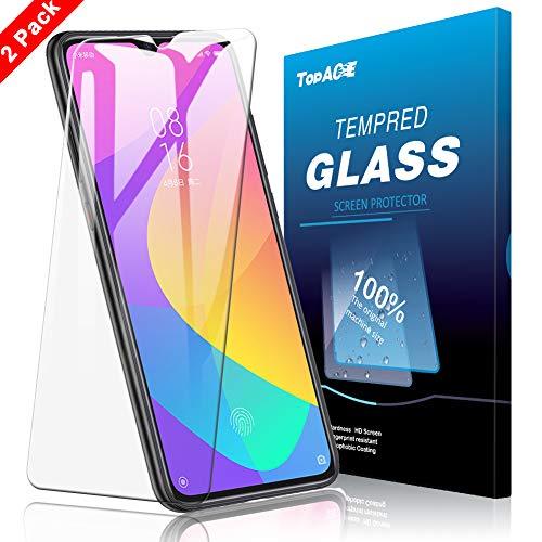 TOPACE Panzerglas Schutzfolie für Xiaomi Mi 9 Lite,Ultra Dünn HD Transparenz Schutzfolie Anti-Öl Anti-Kratzer & Blasenfrei Gehärtetes Glas Bildschirmschutz für Xiaomi Mi 9 Lite(2 Stück)