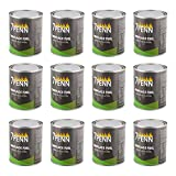 7Penn Gel Fireplace Fuel Cans, 13oz - 12 Pack Fire Pit Gel Fuel Cans for Fireplace, Fire Bowls, and Chafing Dishes