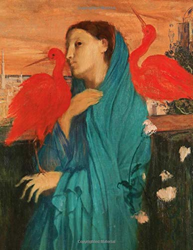 Edgar Degas LARGE Notebook #11: Young Woman With Ibis by Edgar Degas Notebook College Ruled to Write in 8.5x11