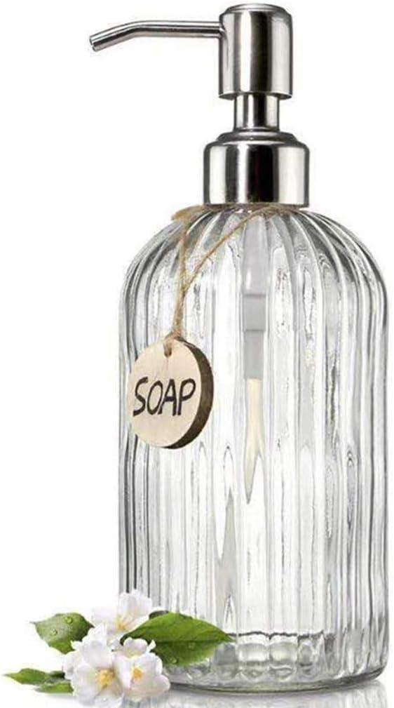 soap Dispenser Liquid Soap Pump Glass Soap Dispenser Empty Bottl