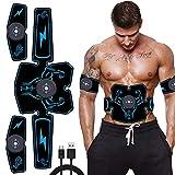 WWMH Estimulador Muscular EMS Entrenador Abdominal Inteligente Cinturón de Adelgazamiento Muscular eléctrico Culturismo Masaje Equipos de Fitness Hombres Mujeres