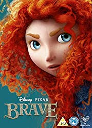 Promotional image for Brave showing close up of Merida the heroine, a young girl with wild red hair