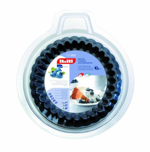 Ibili 870700 Set de 2 Moules à tarte dentelé Blueberry 12 cm