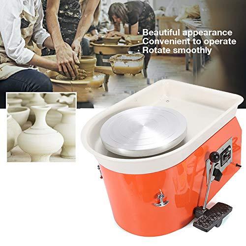 KKTECT Elektrische T/öpferscheibe Kinder DIY Keramikformwerkzeug Mini Pottery Machine Electric 6,5 cm 10 cm Plattenspieler f/ür Keramikarbeiten Keramik Clay Art Craft Blau