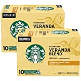 Starbucks Veranda Blend Coffee K-Cup Pods, Blonde Roast Ground Coffee, Made with 100% Arabica Coffee, Recyclable K-Cups, 10 K-Cup Pods/Pack (Pack of 2)