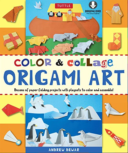 Color & Collage Origami Art Kit Ebook: This Easy Origami Book Contains 45 Fun Projects, Origami How-to Instructions and Downloadable Materials (English Edition)