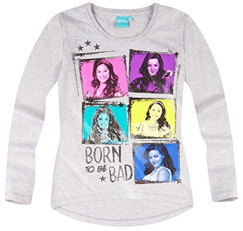 Descendants - Camiseta de manga larga para niña, color gris de 10 a 16 años gris 16 Años