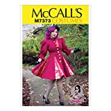 McCall's Patterns M7373 Fit & Flare or Godet Coats with Stand-Up Collar, A5 (6-8-10-12-14)