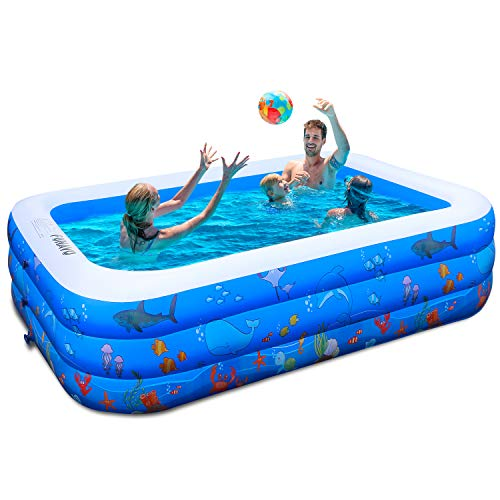 Inflatable Swimming Pools, FUNAVO Inflatable Pool for kids, Kiddie, Toddler, Adults, 100' X71' X22'...