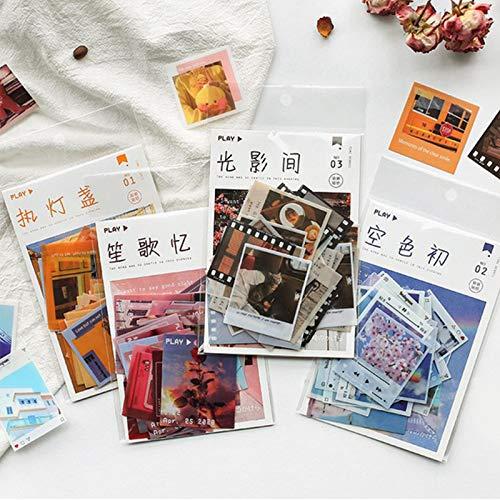 160 Pezzi Adesivi per Scrapbooking, Adesivi di Carta Decorativa Adesivi Fai-da-Te per Bambini e Adulti Adesivi per Appunti in Stile Naturale Adesivi per Album Scrapbook Quaderni Bullet Journal