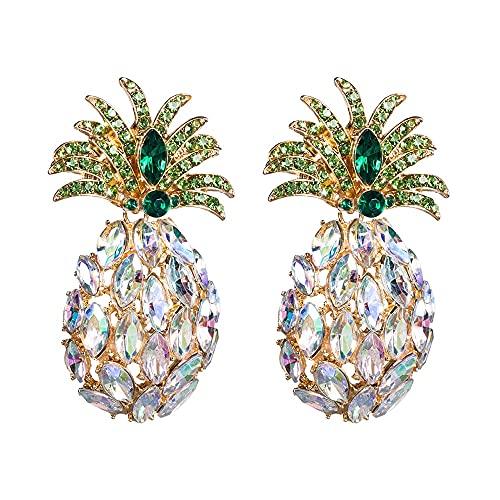 DFDLNL Conjuntos de aretes para Mujer Aros Coloridos aretes de piña acrílicos Playa mar Verano Fruta piña Boho aretes RegaloA
