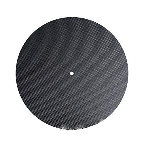 EKimmer Alfombrilla LP de Fibra de Carbono para Accesorios de Tocadiscos de Tocadiscos